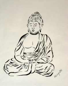 Buddha In Black And White