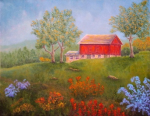 New Englan Red Barn Summer Large file 3152x2441