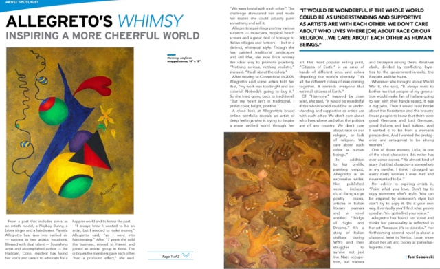 Artscope Magazine article